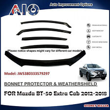 AD BONNET PROTECTOR & WEATHERSHIELD FOR MAZDA BT-50 BT 50 EXTRA CAB 2012-2018