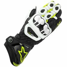 Motorcycle Leather Gloves > Alpinestars GP Pro Race - Black / White / Fluo