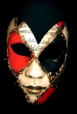 MAR6 BUTTERFLY MASK, HANDMADE IN ITALY, PAPIER MACHE, HANDPAINTED RED/BLACK