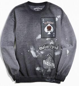 Motorhead Metal Band Official Merch Distressed Sweatshirt Size S