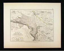 1855 Alison Military 2 Maps - Napoleon Battle of Arcole 1796 Italy Adige River