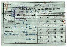 1944 Russia Estonia WWII Era Fresh Milk Daily Allowance Coupon Card Type 2