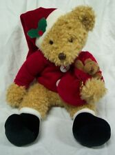 "Russ Sammy Santa The Teddy Bear 9"" Plush Stuffed Animal Toy"