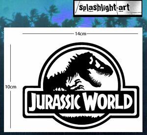 Jurassic World logo Vinyl Decal Sticker 14cm black for Car Wall Laptop etc