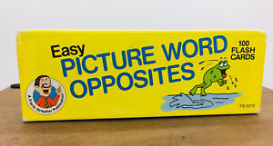 1990 Easy PICTURE WORD OPPOSITES FRANK SCHAFFER Home School Education Card 100