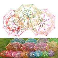 Dollhouse Toy Furniture Garden Flower Umbrella Home Miniature Decorative Gift EC