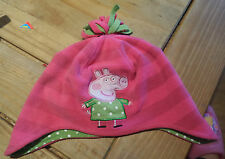 Next Peppa Pig hat with ear flaps size 3 - 6 years good worm condition