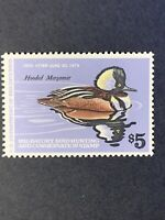 RW45 Hooded Merganser Drake Duck Stamp MNH (I11).