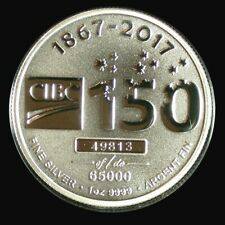 CIBC Canadian Imperial Bank of Commerce 150th anniversary 1 oz .999 Silver 2017