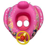 Baby Girl Swim Seat Inflatable Swimming Boat Ring Steering Wheel Car PRINCESS