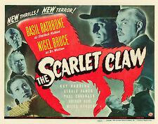 The Scarlett Claw  11 X 14 Title Lobby Card TLC Sherlock Holmes Basil Rathbone