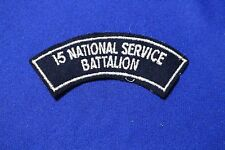 Original Australian...15 National Service Battalion cloth shoulder title patch