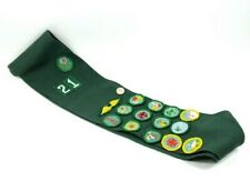 Vintage Girl Scout Sash w/ Badges, Wings and 1 Button