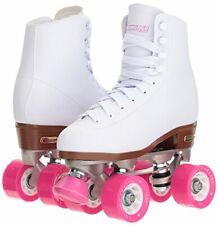 CHICAGO Skates Women's Classic Roller Skates White Quad Rink Skates Size 1