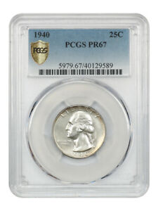 1940 25c PCGS PR 67 - Washington Quarter