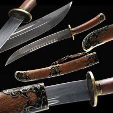 Boutique Chinese Short Sword Qing Dao Broadsword Pattern Steel Razor Sharp Blade