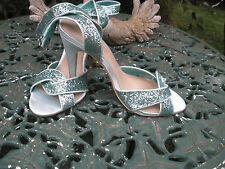 High Heels - Green Peep Toe - Celebrate by Nude - Size 40