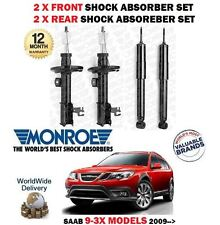 FOR SAAB 9-3X 1.9 2.0 TURBO 2009-> 2x FRONT + 2x REAR SHOCK ABSORBER SHOCKER SET