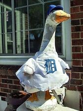 GOOSE CLOTHES LAWN  DETROIT TIGER BASEBALL 24-27 GARDEN DECOR COTTON BLUE WHITE