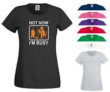 Lustige Videospiele T Shirt Nicht heute bin ich beschäftigt Xbox PS4 PC Gamer Geburtstag Frauen Top