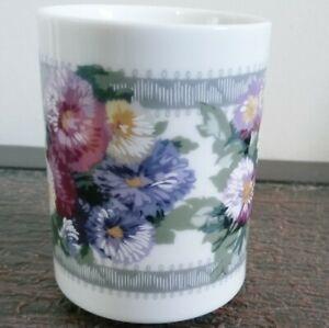 Bill Blass Vintage Bathroom Floral Cup ALINE, Springmaid Japan, 1980s