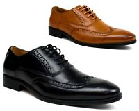 Men New Smart Lace Up Office Work Wedding Casual Formal Brogue Shoes Size 6-12