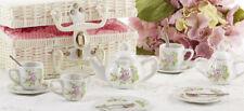 Delton Children's Porcelain Tea Set for 2 in Wicker Basket OWL