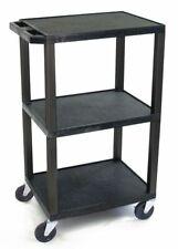 Zoro Select Wt42 Molded Plastic Shelf Utility Cart With Lipped Plastic