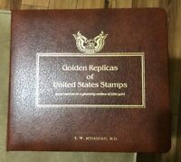 Golden Replicas Of United States Stamps Gleaming Surface 22kt Gold 40 Stamps