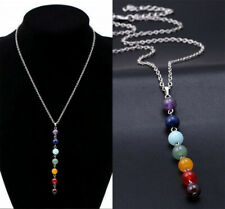 7 Chakra Beads Pendant Women Yoga Reiki Healing Balancing Chain Necklace Jewelry