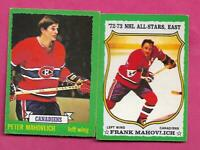 1973-74 OPC CANADIENS PETE AND FRANK MAHOVLICH   CARD (INV# C7678)