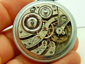 Antique Illinois Burlington Watch Co 19 jewel Grade 106 circa 1916 WWI era 16 s