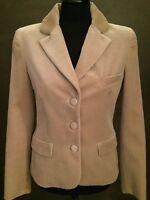 Blugirl Blumarine Samt Blazer beige/taupe/grau Blogger Style IT44 DE38 GR M