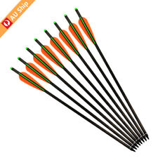 12X 20'' Crossbow Bolts Carbon Arrows Hunting Screw Field Points Moon Nock