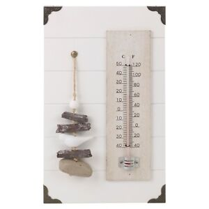Shabby Chic Hanging Home Temperature Garden Indoor Outdoor Wall Mercury Ornament