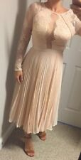NEW! GORGEOUS! Asos Wedding Party Pleated Lace Dress Midi Size 2