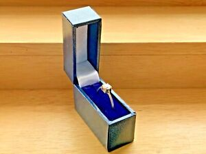 Vintage Solid 925 Sterling Silver Cubic Zirconia Ring UK Size O in Gift Box 1.3g