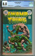 SWAMP THING #10 CGC 8.0 OW/WH PAGES