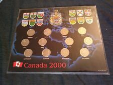 CANADA 2000 MILLENNIUM 25 CENTS SETS 12 COINS IN HOLDER