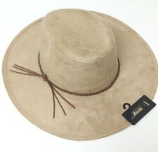 aaa940576347b NEW Lot of 4 Faux suede Panama W suede braided band Fedora Trilby Cap Cowboy