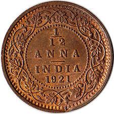 1921 British India 1/12 Anna Coin George V KM#509
