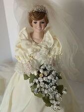 "The Princess Diana Doll Bride Doll 19""-Danbury Mint-1985 Includes Box and Papers"