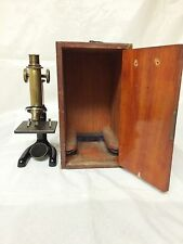 Vintage 1914 Bausch & Lomb Monocular Compound Microscope - 10x/43x w/ Case
