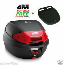 GIVI E300N2 TOP BOX case Includes FREE Z113C Universal MONOLOCK Fitting Plate