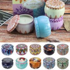 Nueva Fragancia Aromaterapia Con Aroma Vela de Cera de soja natural Vela cajas de estaño