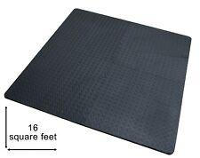 20 MM Extra Thick EVA Foam Interlocking Black Mat Tiles for Gym, Sheds & Garages