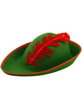 Mens Ladies Green Robin Hood Bavarian German Oktoberfest Fancy Dress Hat New