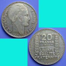 France French Francaise 20 Franc 1933 km 879 Silver 0.4372 oz
