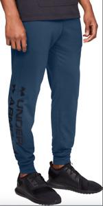 Under Armour Sportstyle Graphic Mens Joggers Blue Training Pants Navy Sweatpants