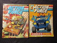 1987 Marvel UK Weekly ACTION FORCE #17 18 19 LOT of 4 FVF